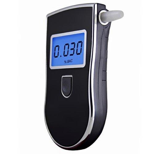 【Alcoholímetro Digital Portátil】 Probador de Alcohol con Alta Sensibilidad, Pantalla LCD y 5 Boquillas Desechables