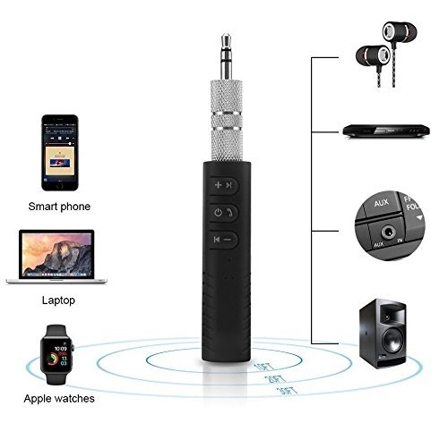 Buy Quastro Bt450 Wireless Bluetooth Receiver 3 5mm Jack Stereo Bluetooth Audio Music Receiver Adapter For Speaker Car Aux Online Gadgets Guru