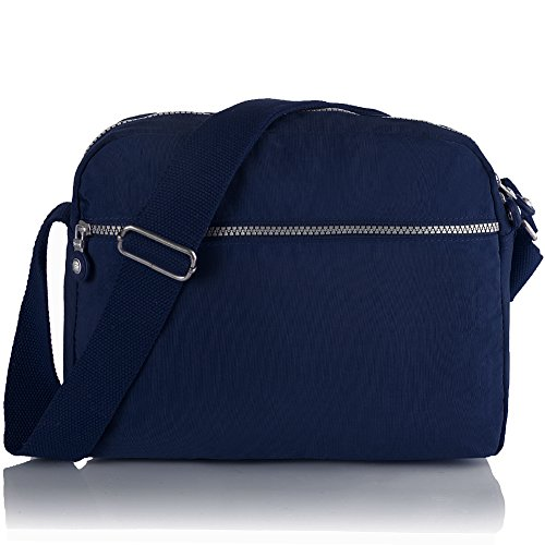 Oakarbo, Borsa a tracolla donna viola 1301 Vivid violet 939 Navy blue