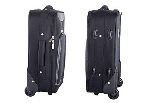 41GbBMD0BxL - Maleta semirrígida PIERRE CARDIN negro mini equipaje de mano ryanair VS11