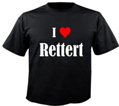 """T-Shirt """"I Love Rettert"""" für Damen Herren und Kinder ... in den Farben Schwarz Weiss Pink Schwarz"""