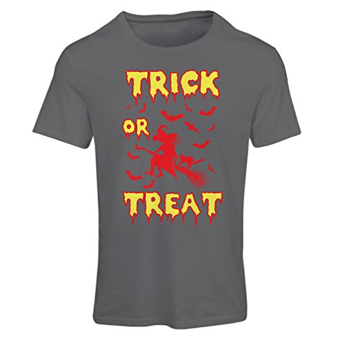 or Treat - Halloween Witch - Party outfites - Scary costume (XX-Large Graphit Mehrfarben) (Trick Or Treat Lustige Hunde Halloween)