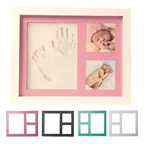 Kit de marcos de fotos y huellas para bebé