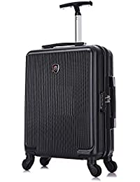 Toctoto 55x40x20cm / 55x35x20cm Espandibile+TSA / 52x33x20cm Espandibile+TSA, Lightweight Ryanair Maximum Size Carry On Hand Cabin Luggage Suitcase,Bagaglio a Mano Unisex