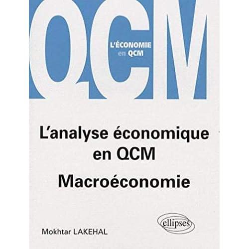 L'analyse économique en QCM : Macroéconomie