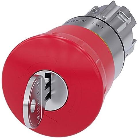Siemens Indus.Sector Not de sujeción de Seta pulsador 3su1050–1hf20–0AA0con cerradura ronis Sirius pulsador de emergencia, completo dispositivo