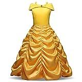 Pretty Princess princesa disfraz niña infantil amarillo vestido fiesta Cumpleaños Halloween 9-10 años