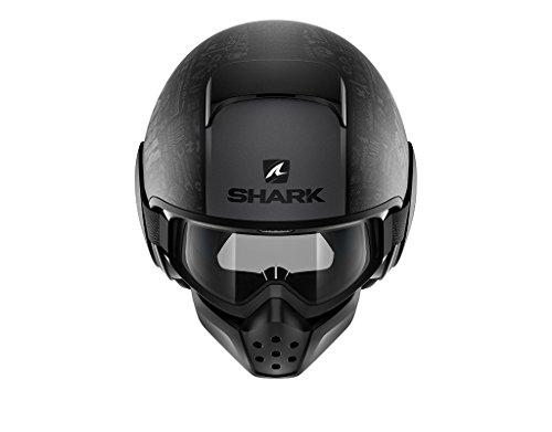 Shark Drak Tribute RM opaca Kaa, casco da moto, nero, taglia L