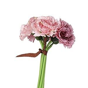 Inicio Adornos De Seda 6 Clavel De La Flor Artificial Para La Boda Del Ramo De Bricolaje – Púrpura