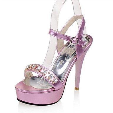LvYuan Da donna-Sandali-Formale Casual Serata e festa-Comoda Innovativo-A stiletto-Lustrini Materiali personalizzati-Rosa Dorato Argento Pink