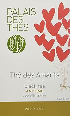 """Palais des Thés - Thé Noir """"THE DES AMANTS"""" - 20 sachets mousselines"""