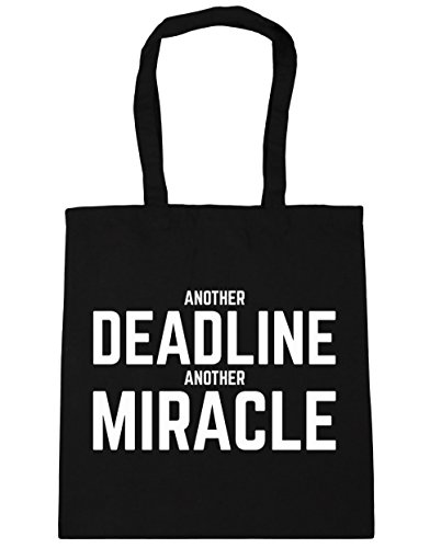 hippowarehouse-another-deadline-another-miracle-tote-shopping-gym-beach-bag-42cm-x38cm-10-litres