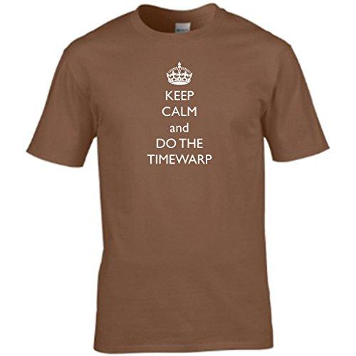 KEEP CALM AND DO THE rocky horror TIMEWARP-show Herren t shirt Braun - Braun
