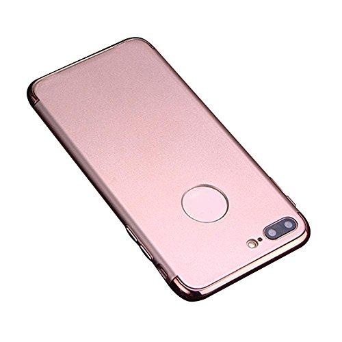 KOBWA iPhone 7 Plus Hülle, 3 in 1 Ultra Dünner Harter Anti-Kratzer Stoßfestes Elektrodengestell mit Beschichteter Oberfläche Ausgezeichneter Griff-Fall für Apple iPhone 7 Plus