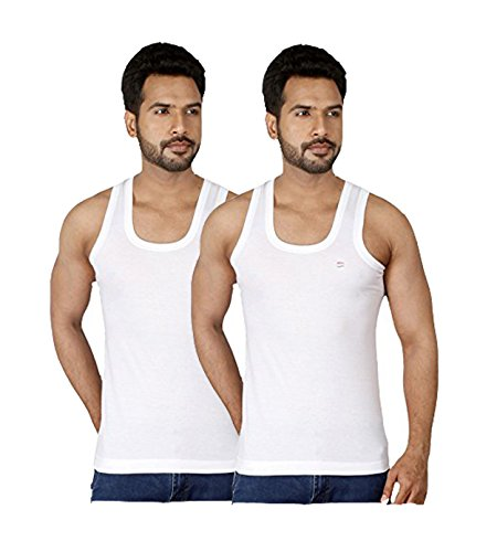 Dixcy Scott Men's Seleveless Cotton Vest Pack of 2 (Size :80 CM)  available at amazon for Rs.227