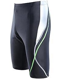 iiniim Pantalones Cortas de Baño Secado Rápido de Cuero Imitación para Hombres Bóxeres de Natación Calzoncillo Deportiva…