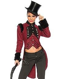 Frack Frack collier costume dompteur de militaires permanents Artiste de cirque Cicus le style dompteur, Farbe:Burgund/Schwarz;Größe:M