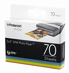Polaroid ZINK Media Papier photo pour imprimante PoGo 70 feuilles (Import Royaume Uni)