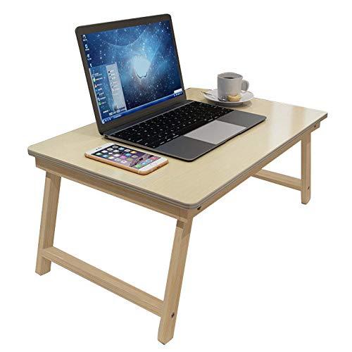 ZZWBOX Studenten-Computer-Schreibtisch-Bett mit faltender Kleiner Tabelle älterer Patienten-Sorgfalt-Tabelle beweglicher Kleiner Tabelle,WoodColor