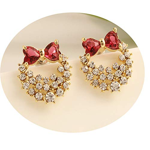 g Diamant Ohrstecker, Mode Voller Diamanten Polster Ohrclips Ohrring, Wilder Kreis Eardrop,Golden,Er ()