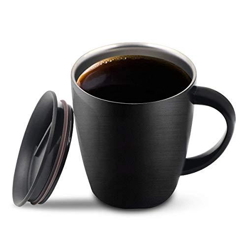 Taza de café de acero inoxidable, taza de viaje de café de...