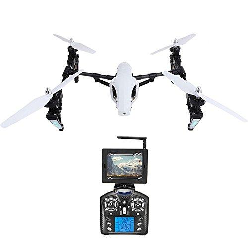 Wltoys Q333A FPV Drohne mit Kamera und Bildschirm 5.8G Live Übertragung Monitor 720P Cam Headless Modus für Erfahrener, mit 4G Speicherkarte, Garantie, 2 Akkus, Deutsche Anleitung, Weiß - 6