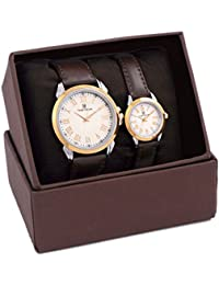 Timewear Formal Beige Dial Unisex Couple Watch - 901Wdtcouple