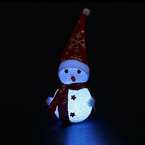 Lichter Neuheit String (Bescita Weihnachten Dekoration Farbe Ändern LED Licht Multi-Color Magic Neuheit Star Snowman Deko Lampe (C))