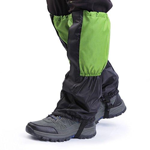 OUTAD La Capa de Nieve Impermeable al Aire Libre Plus de Terciopelo Más Calor (verde y negro)