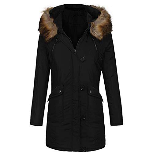 JMETRIC Winterfrauen mit Kapuze und warmen Mantel aus -