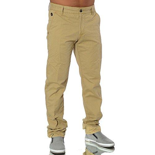 M143 Herren Chino Straight Jeans Stretch Hose Designer Slim Fit Chinohose Camel