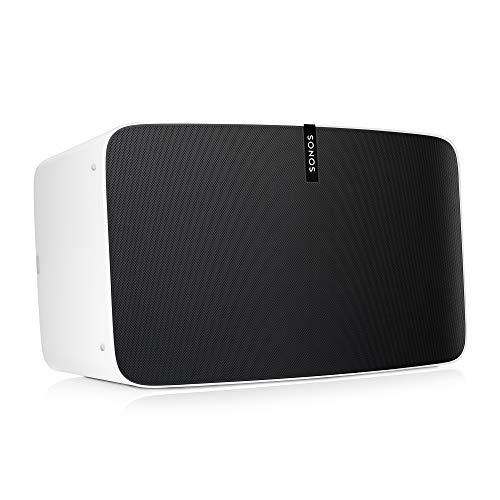 Sonos Play:5 WLAN Speaker (Kraftvoller WLAN Lautsprecher mit bestem, kristallklarem Stereo Sound - AirPlay kompatibler Multiroom Lautsprecher) weiß