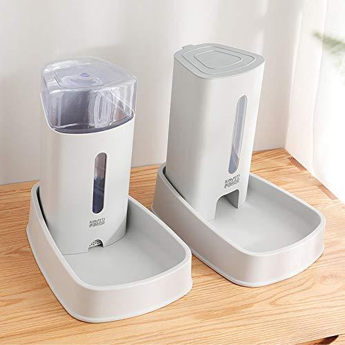 liscn Kluger Trinker Haustier Wassertrinker Futterautomat Premium Automatischer Futter Und Wasserspender Für Katzen Und Hunde, Lebensmittelecht, Besonders Groß Inkl. Ersatz-Ventil