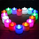 Home Makeover Multi Color LED Candles, Tea Light Candles, For Diwali/Festival Candles Smokeless Battery Operated Set Of 12Pcs. Candle (Multicolor, Pack Of 12)