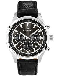 Dugena Herren-Armbanduhr Chronograph - Sport Line Analog Quarz Leder 4460515