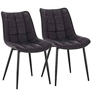 WOLTU® Esszimmerstühle BH207an-2 2er Set Küchenstuhl Polsterstuhl Wohnzimmerstuhl Sessel mit Rückenlehne, Sitzfläche aus…
