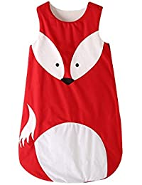 Saco de dormir para bebé de 6 a 18 meses, diseño de animal, de Fairy Baby zorro Talla:L (Fit baby length 80-90 cm/31.5…