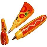 Kugelschreiber-Set Pizza & Hotdog
