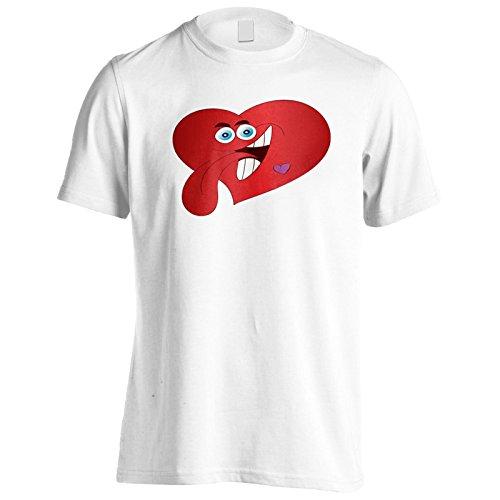 Nuovo Cuore Lussurioso Uomo T-shirt l511m White