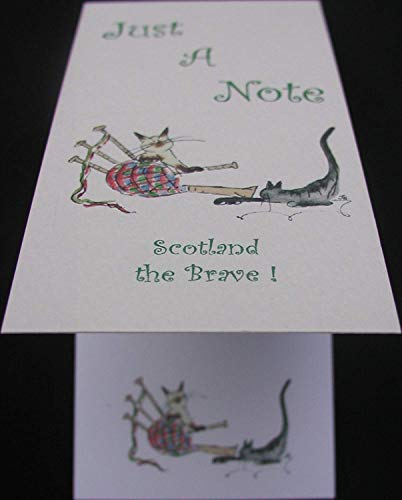 "Scotland The Brave ""Dudelsack"" Just A Note ""Musical Cat Notizblock"