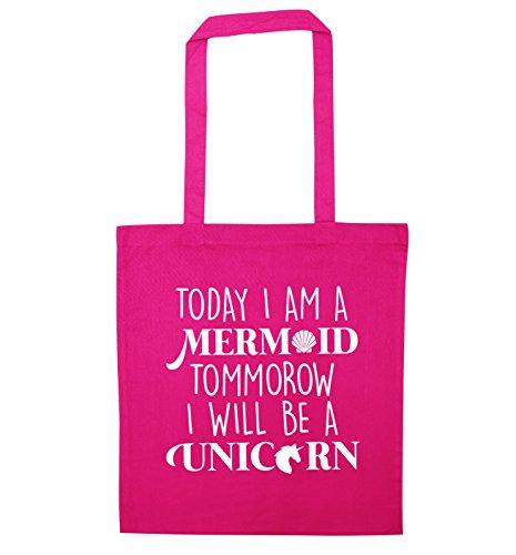 Oggi sono una sirena tommorow i will essere un unicorno Borsa Pink