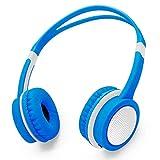 Votones Wired Kopfhörer für Kinder Lautsprecherschutz Kopfhörer für Kinder Einstellbares On-Ear Headset für PC Tablette iPad iPhone Smartphones Calling Music Gaming - Weiß und Blau