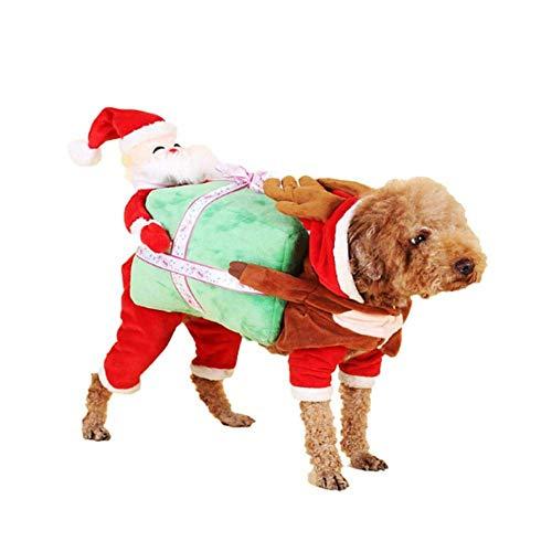 halonzhor Funny Pet Kostüm Kleidung, Pet Tragetasche Kürbis Kostüm Hund Katze Haustiere Anzug Weihnachten Halloween Kleid bis Dekoration Prop Geschenk für Katze Hund Puppy Tragetasche ()