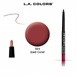 564 Iced Coral : 2-Pack L.A. Colors Auto Lip Liner Pencil Retractable 564 Iced Coral