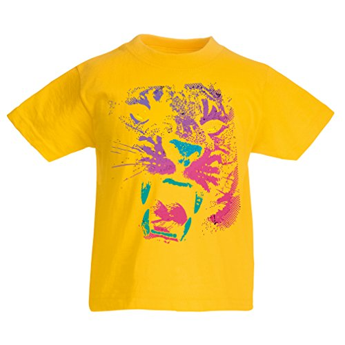 funny-t-shirts-for-kids-the-tiger-9-11-years-yellow-multi-color