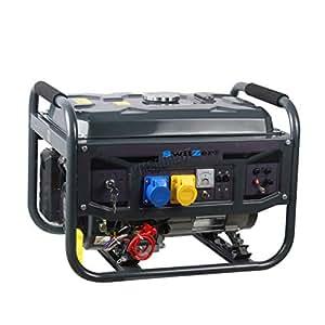 SwitZer Petrol Gasoline Generator Electric Start With Battery 6 5HP 2 8KW 4  Stroke 50HZ Single Cylinder Dual Voltage Low Noise SZ-LT3600EN-5 Grey