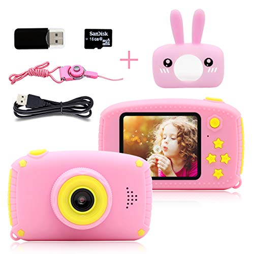 Puz toy giocattoli bambina 3-6 anni macchina fotografica bambini hd 1080p videocamera digitale telecamere cover cartoon silicone il miglior giocattoloregali compleanno natale giochi regalo bambino