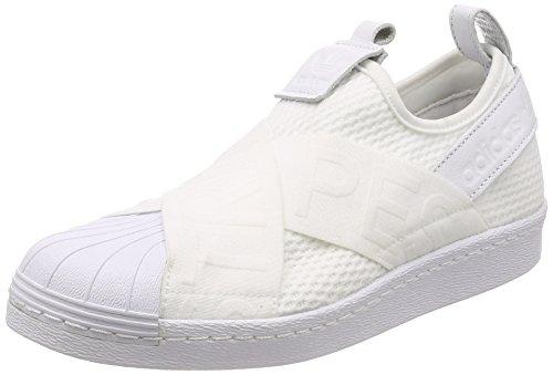 adidas Damen Superstar Slip-On Gymnastikschuhe, Elfenbein (Ftwr White/Ftwr White/Core Black), 40 EU (Adidas-symbol)