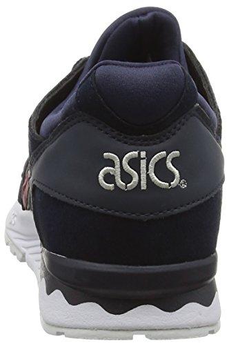 Asics Unisex-Erwachsene Gel-Lyte V Laufschuhe Blau (India Ink/Burgundy)