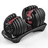 Arteesol Haltères (2-24 kg / 5-52,5 lbs) Haltère Réglable avec Poids Sélectionnables Cadran pour Hommes et Femmes